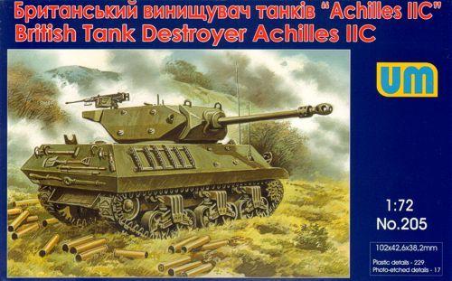 Unimodels Achilles IIC British tank destroyer makett