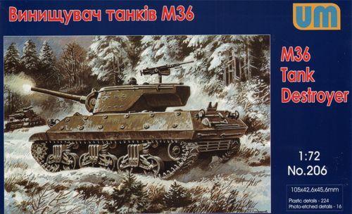 Unimodels M36 tank destroyer makett