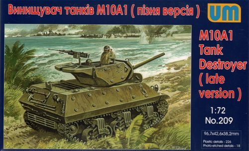 Unimodels M10A1 Tank destroyer makett