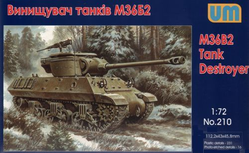 Unimodels M36B2 Tank destroyer makett