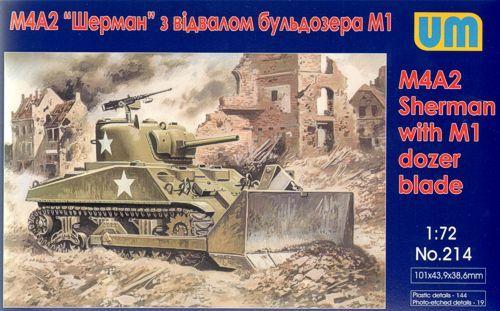 Unimodels Tank M4A2 with M1 Dozer Blade