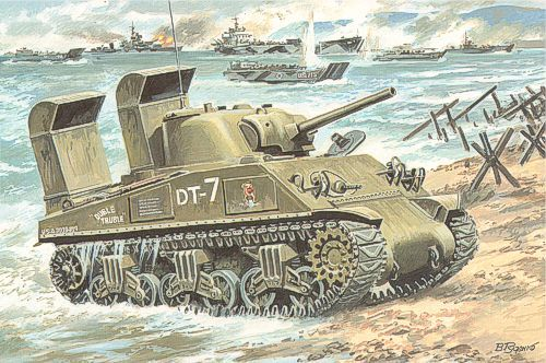 Unimodels Tank M4A3 with Deep Wading Trunks