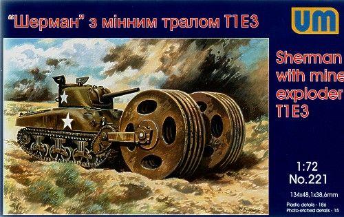 Unimodels Sherman with mine exploder T1E3 makett