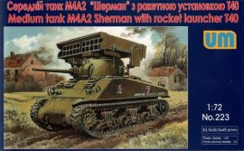 Unimodels Tank M4A2 with T40 rocket launcher
