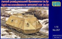 Unimodels Light reconnaissance armored car Le.Sp makett