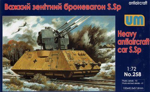 Unimodels Heavy antiaircraft car S.Sp makett