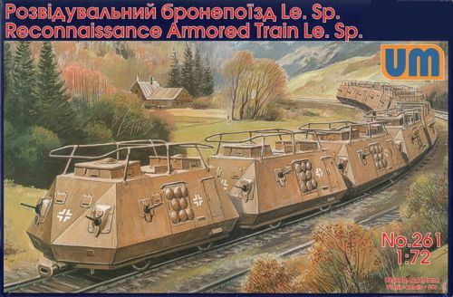Unimodels Reconnaissance armored train Le.Sp makett