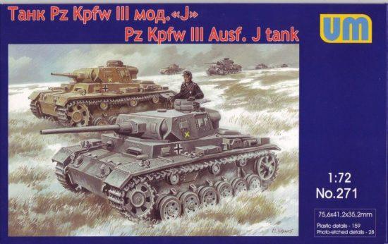 Unimodels Pz.Kpfw III Ausf.J.German tank makett