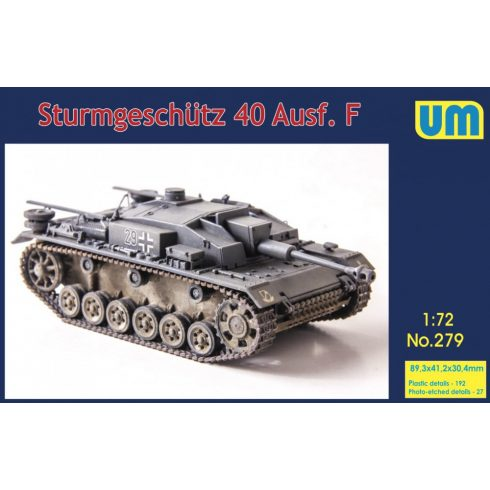 Unimodels Sturmgeschutz 40 Ausf.F makett