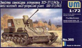 Unimodels Anti-Aircraft self-Propelled plant ZSU-37 (1943)