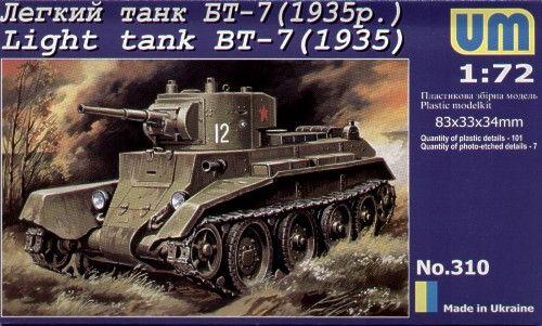 Unimodels Light Tank BT-7 (1935) makett