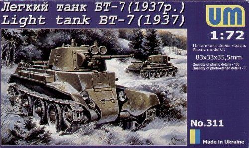 Unimodels Light Tank BT-7 (1937) makett