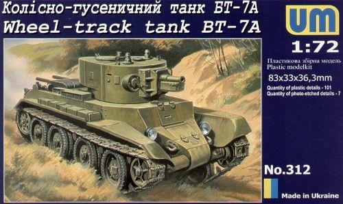 Unimodels Wheel-Track tank BT-7A makett