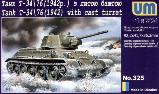 Unimodels Panzer T-34/76 (1942) makett