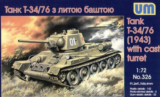 Unimodels T-34/76 (1943) makett