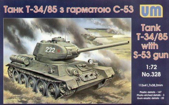 Unimodels T-34/85 with S-53 gun makett