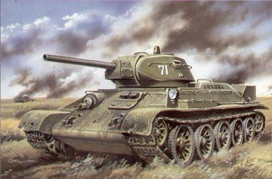 Unimodels Tank T-34/76 (1941) makett