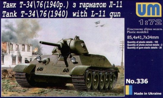 Unimodels T-34/76 with gun L-11 (1940) makett