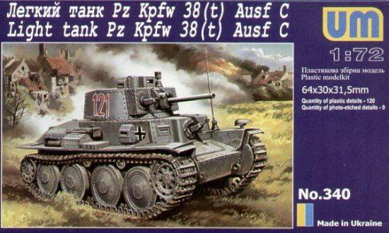 Unimodels PzKpfw.38(t) makett