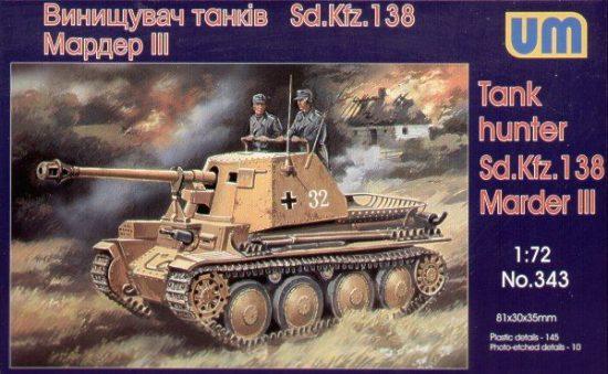 Unimodels Sd. Kfz. 138 Marder III makett