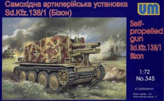 Unimodels Sd.Kfz 138/1 Bison makett