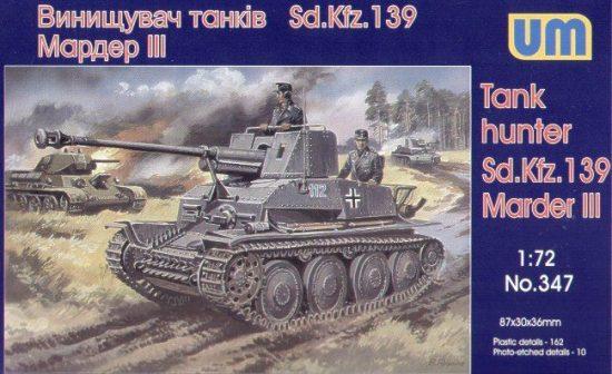 Unimodels Panzerjäger Marder III Sd.Kfz.139 makett