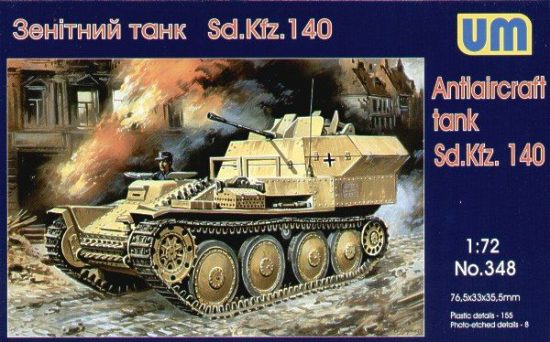 Unimodels Sd.Kfz 140 Flakpanzer makett