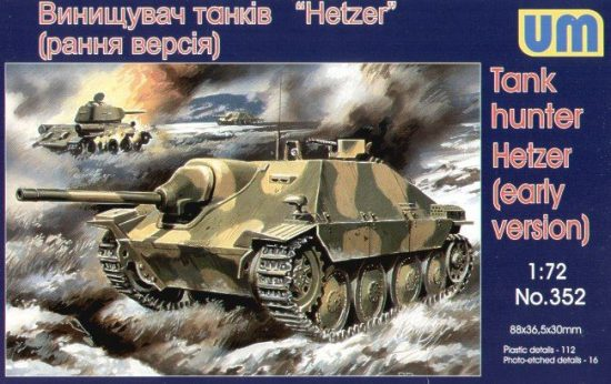 Unimodels Tank hunter Hetzer (early version) makett