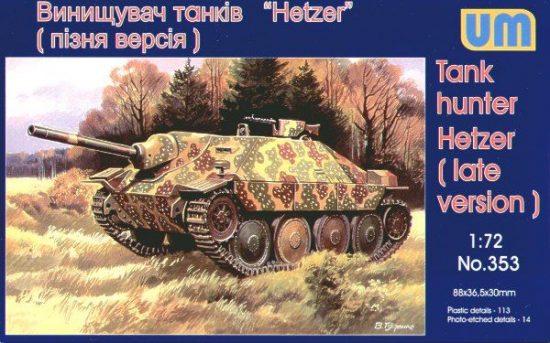 Unimodels Tank Hunter Hetzer (late version) makett