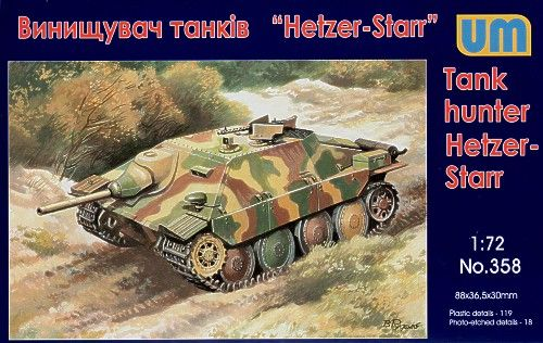 Unimodels Hetzer-STARR tank hunter makett