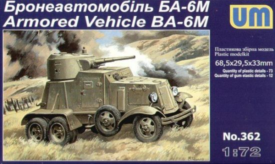 Unimodels BA-6M Armored Vehicle makett