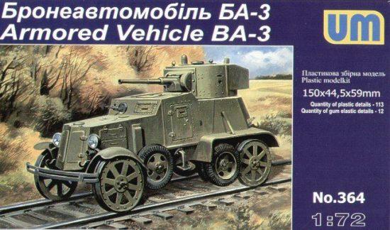 Unimodels Armored Vehicle BA-3 makett