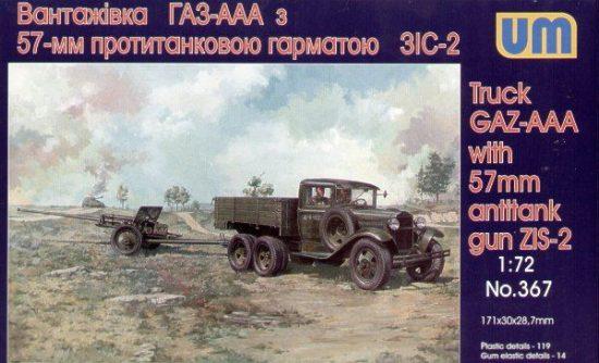 Unimodels GAZ - AAA mit 57 mm ZIS-2 Antitank gun makett