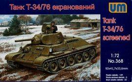 Unimodels T34/76-E screened tank