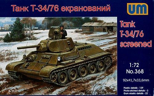 Unimodels T34/76-E screened tank makett