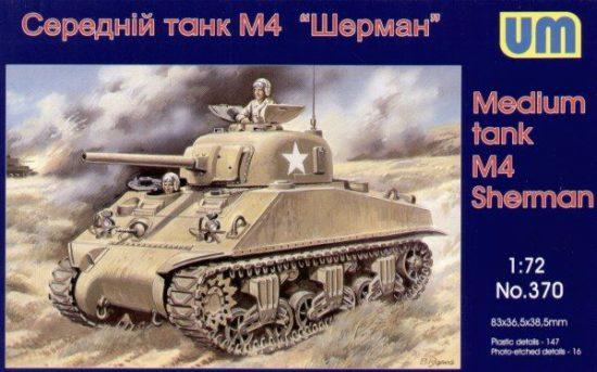 Unimodels Medium Tank M4 (early) makett