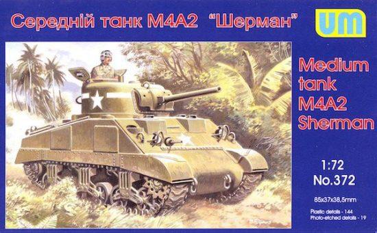 Unimodels M4A2 Sherman medium tank makett