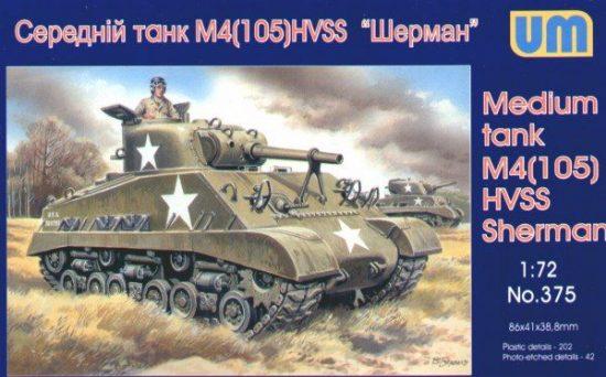 Unimodels Medium tank M4(105) HVSS makett