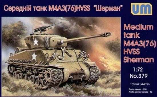 Unimodels Medium tank M4A3(76)W HVSS makett