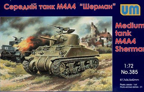 Unimodels M4A4 Sherman medium Tank makett