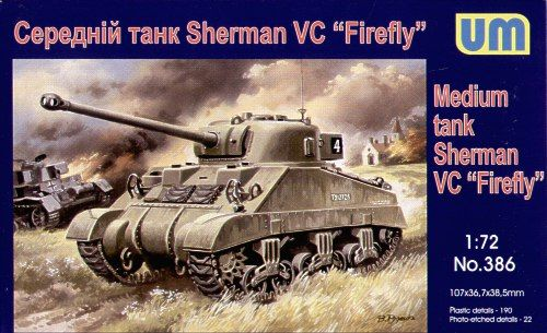 Unimodels Medium tank Sherman ''Firefly'' makett