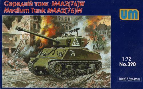 Unimodels M4A2(76)W US medium tank makett