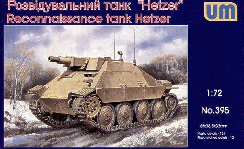 Unimodels Reconnaissance tank Hetzer makett