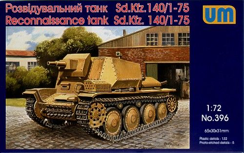 Unimodels Reconnaissance tank Sd.Kfz 140/1-75 makett