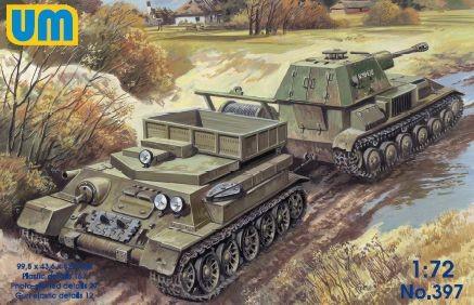 Unimodels Retriever on T-34 basis with SPG Su-76 makett