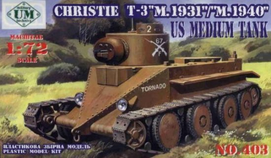 Unimodels Christie T-3 M.1931/M.1940 makett