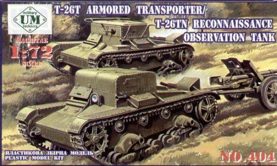 Unimodels T-26T Armored transporter/T-26TN makett