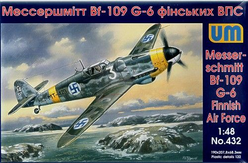 Unimodels Messerschmitt Bf 109G-6/R3 (Finish AirForce) makett