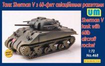 Unimodels Sherman V tank with 60lb aircraft rocket makett