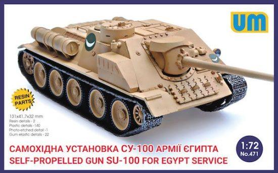 Unimodels Russian SU-100 in Egypt Service makett